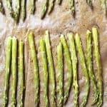 Garlic Butter Roasted Asparagus Recipe - Garlic Butter Roasted Asparagus makes a quick and easy, delicious side dish! // addapinch.com