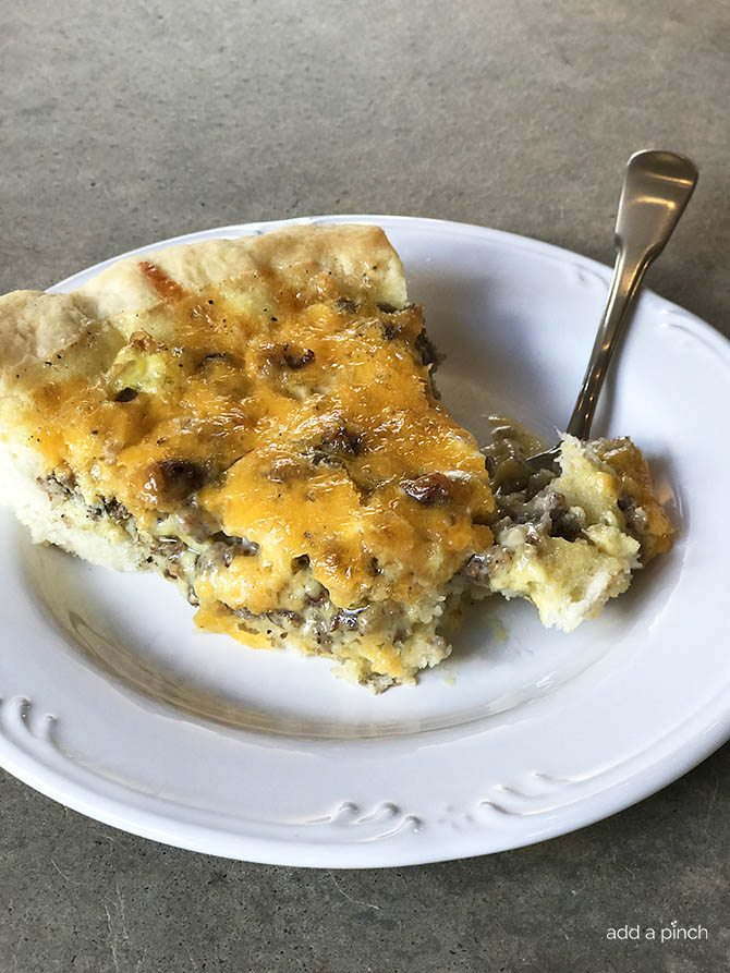 Southern Sausage Cheddar Quiche Recipe This Makes A Quick And