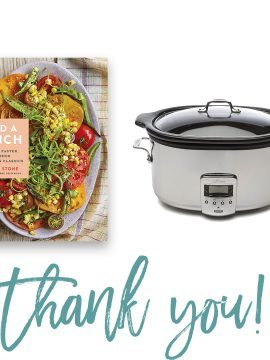 Add a Pinch Cookbook + All Clad Slow Cooker Giveaway!