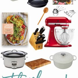 Add a Pinch Cookbook Kitchen Essentials Thank You Giveaway! // addapinch.com