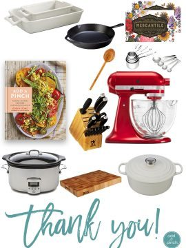 Add a Pinch Cookbook + Kitchen Essentials Giveaway!
