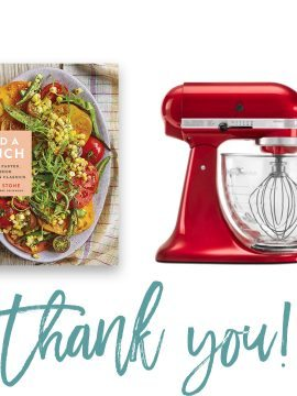 Add a Pinch Cookbook + Kitchenaid Mixer Giveaway Winners!