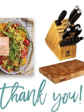 Add a Pinch Cookbook + Knife Set and Block Giveaway Winners!