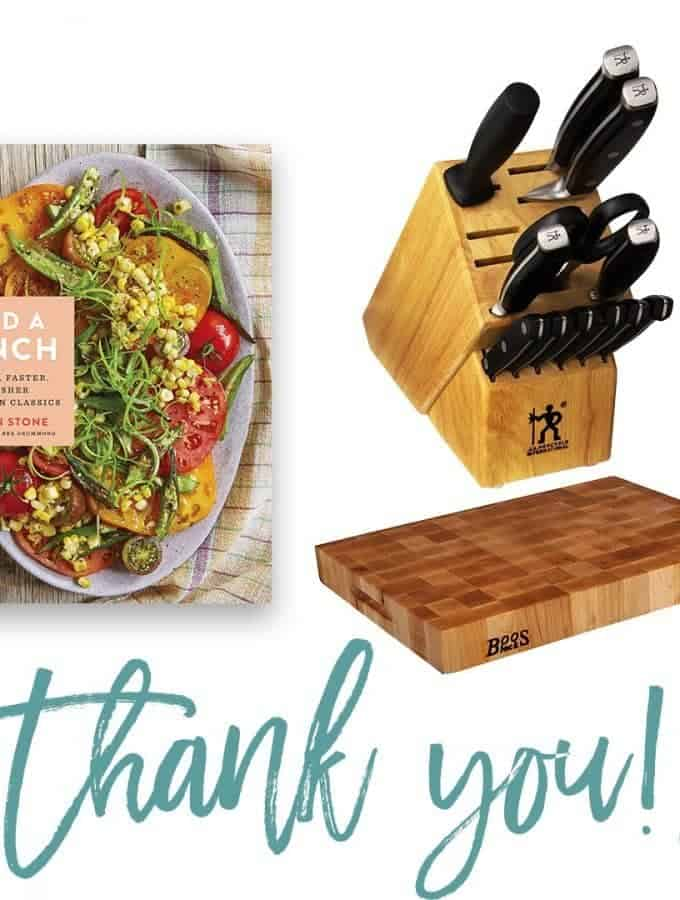 Add a Pinch Cookbook + Knife Set and Block Giveaway! // addapinch.com
