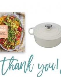 Add a Pinch Cookbook + Le Creuset Dutch Oven Giveaway! // addapinch.com