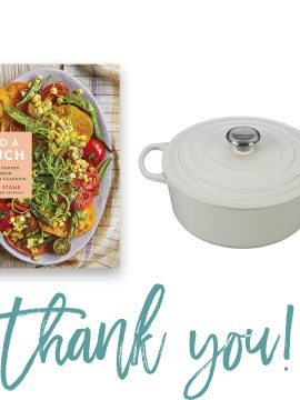 Add a Pinch Cookbook + Le Creuset Dutch Oven Giveaway Winners!
