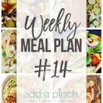 Weekly Meal Plan #14
