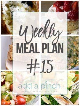 Weekly Meal Plan #15 and Cookbook Release Week!