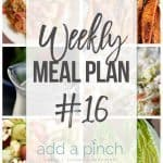 Weekly Meal Plan #16