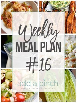 Weekly Meal Plan #16