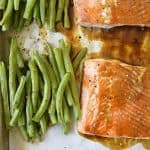 Sheet Pan Teriyaki Salmon with Green Beans Recipe