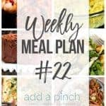 Weekly Meal Plan #22