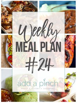 Weekly Meal Plan #24