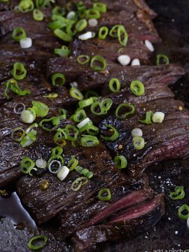 Honey Soy Skirt Steak Recipe
