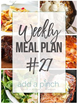 Weekly Meal Plan #27