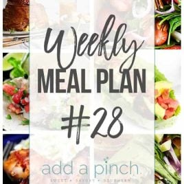 Sharing our Weekly Meal Plan with make-ahead tips, freezer instructions, and ways make supper even easier! // addapinch.com