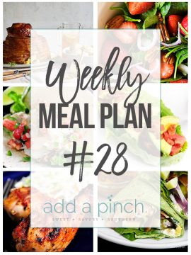 Weekly Meal Plan #28
