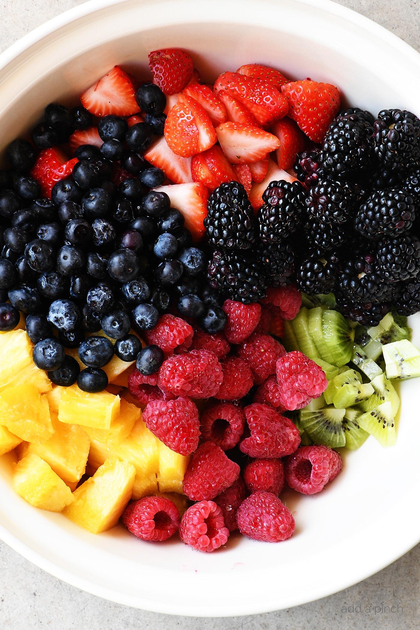honey lime fruit salad recipe add a pinch