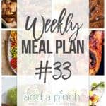 Weekly Meal Plan #33