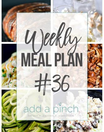 Weekly Meal Plan #36 - Sharing our Weekly Meal Plan with make-ahead tips, freezer instructions, and ways make supper even easier! // addapinch.com