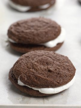 Chocolate Marshmallow Sandwich Cookies Recipe