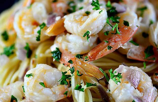 Shrimp Scampi Recipe // addapinch.com