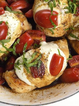 Skillet Caprese Chicken Recipe