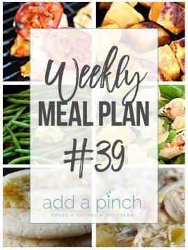 Weekly Meal Plan #39