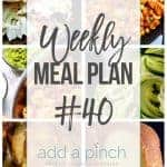 Weekly Meal Plan #40