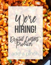 We're Hiring - Digital Content Producer // addapinch.com