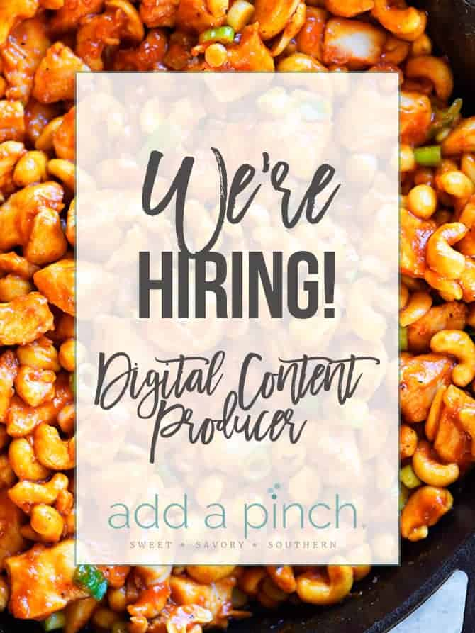 We're Hiring - Digital Content Producer // addapinch.com