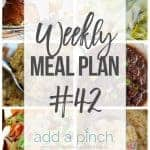 Weekly Meal Plan #42