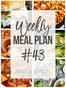 Weekly Meal Plan #43
