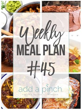 Weekly Meal Plan #45