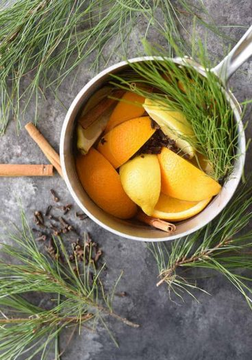 How to Make Potpourri - This all natural, quick and easy potpourri recipe makes your home smell amazing with fresh fruits, spices, and a touch of nature! // addapinch.com