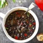 Red Pepper Mushroom Black Bean Soup Recipe