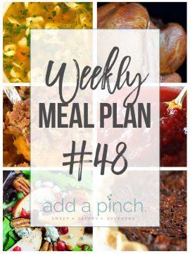 Weekly Meal Plan #48