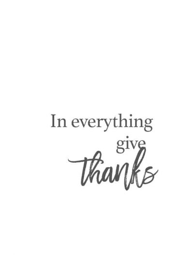 In Everything Give Thanks // addapinch.com
