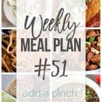 Weekly Meal  Plan #51