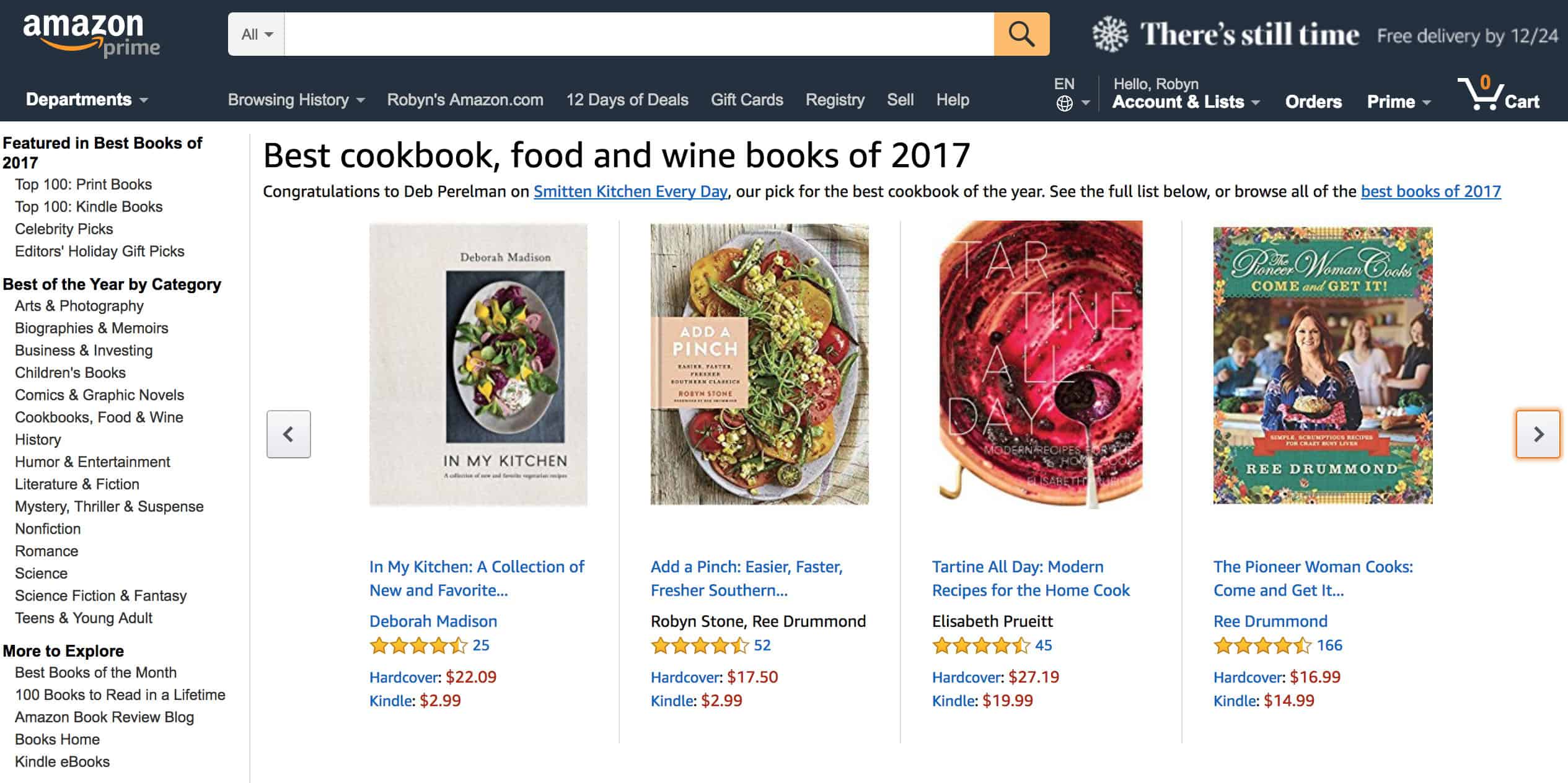 Amazon Best Cookbook, Food, Wine Books 2017 // addapinch.com