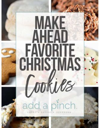 Favorite Christmas cookiesfrom sugar cookies to snickerdoodles, this is a list of classicsand new found favorites includes make-ahead instructions and tips! // addapinch.com