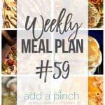 Weekly Meal Plan #59