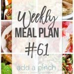 Weekly Meal Plan #61
