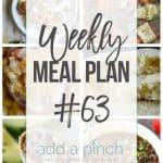 Weekly Meal Plan #63
