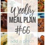 Weekly Meal Plan #66
