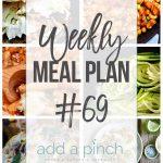 Weekly Meal Plan #69