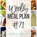 Weekly Meal Plan #71