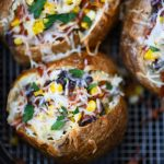 Air Fryer Enchilada Stuffed Baked Potatoes Recipe