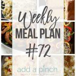 Weekly Meal Plan #72