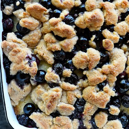 Blueberry Coffee Cake Recipe with Crumb Topping - Made with fresh blueberries and a delicious crumb topping, this blueberry coffee cake is always a favorite! Perfect for breakfast, brunch, or dessert! // addapinch.com